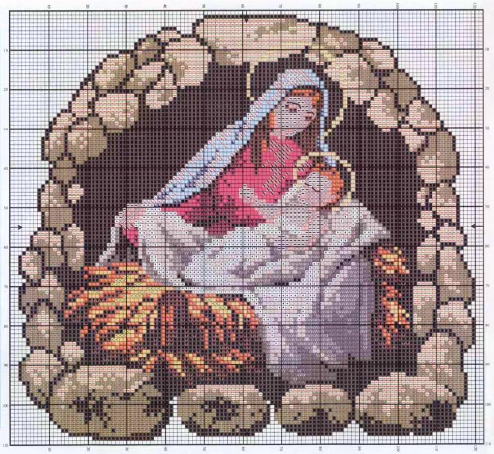 Рождественские схемы вышивки - фото 6