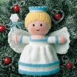 Вязаные новогодние игрушки - фото 12