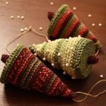 Вязаные новогодние игрушки - фото 18