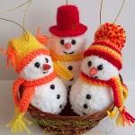 Вязаные новогодние игрушки - фото 26