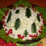 Новогоднее украшение блюд - фото 11
