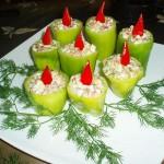 Новогоднее украшение блюд