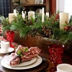 Сервировка новогоднего стола - фото 35