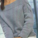Схемы вязаных свитеров спицами - 11