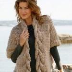 Схемы вязаных свитеров спицами - 15