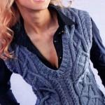 Схемы вязаных свитеров спицами - 17