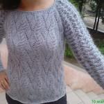 Схемы вязаных свитеров спицами - 19