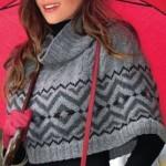 Схемы вязаных свитеров спицами - 21