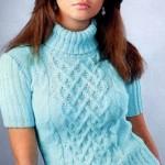 Схемы вязаных свитеров спицами - 25