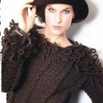 Схемы вязаных свитеров спицами - 29
