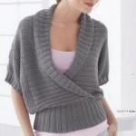 Схемы вязаных свитеров спицами - 3