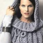 Схемы вязаных свитеров спицами - 31