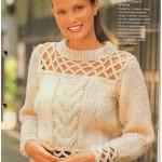 Схемы вязаных свитеров спицами - 5