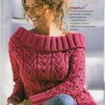 Схемы вязаных свитеров спицами - 7