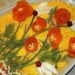 Украшение блюд к 8 марта - фото 27