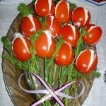Украшение блюд к 8 марта - фото 6