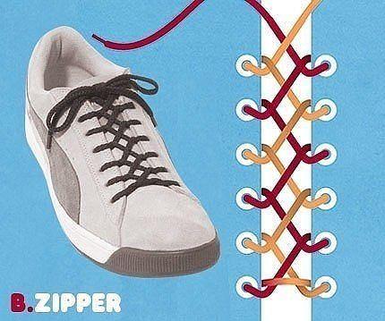 Как завязать шнурки 8