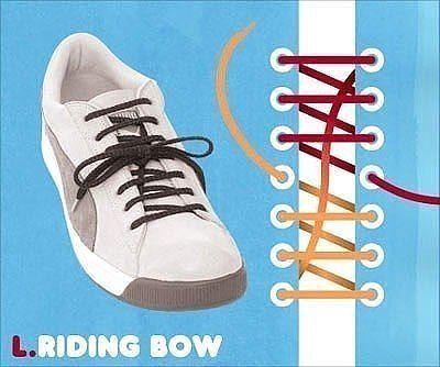 Как завязать шнурки 9