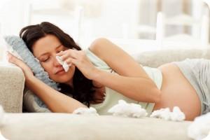 Как вылечить насморк у беременных
