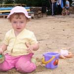 Игры в песочнице с ребенком
