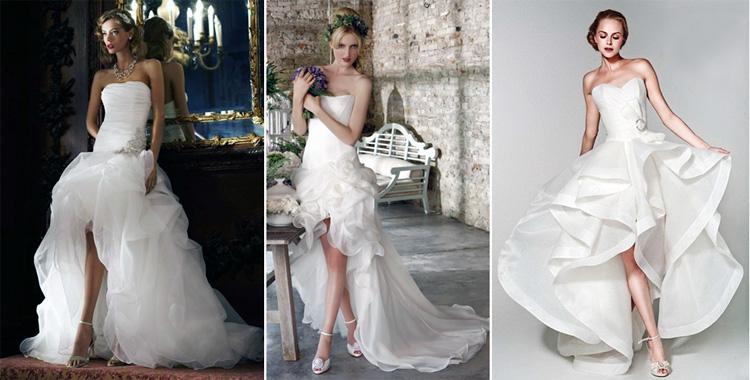 Комбинированное свадебное платье
