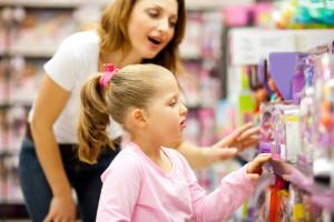 Поход за покупками с детьми
